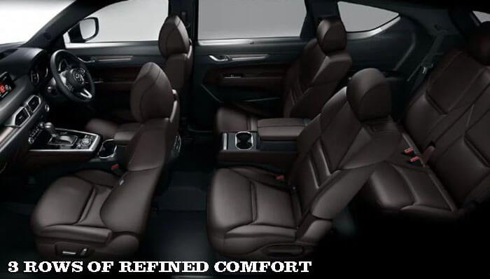3 ROWS OF REFINED COMFORT